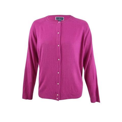 Karen Scott Women's Plus Size Luxsoft Pearl-Button Cardigan - 2X