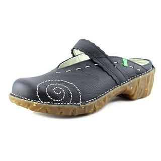 El Naturalista Yggdrasil Round Toe Leather Clogs