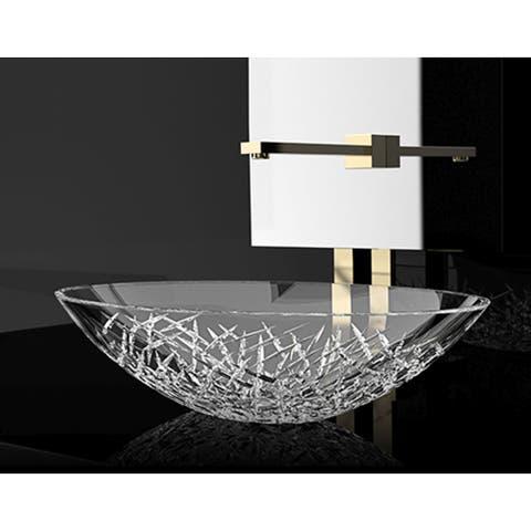 WS Bath Collections Crystal OV Crystal Vessel Bathroom Sink - Clear