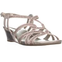 Bandolino Galtelli Strappy Wedge Sandals, Light Pink - 7.5 us