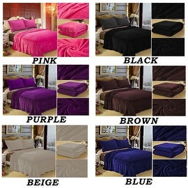 Queen Size High Quality New 3 Lbs 100-percent Polyester Solid Color Super Soft Bed Blanket Throws