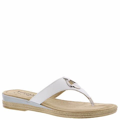 Easy Street Womens belinda Split Toe Casual Slide Sandals