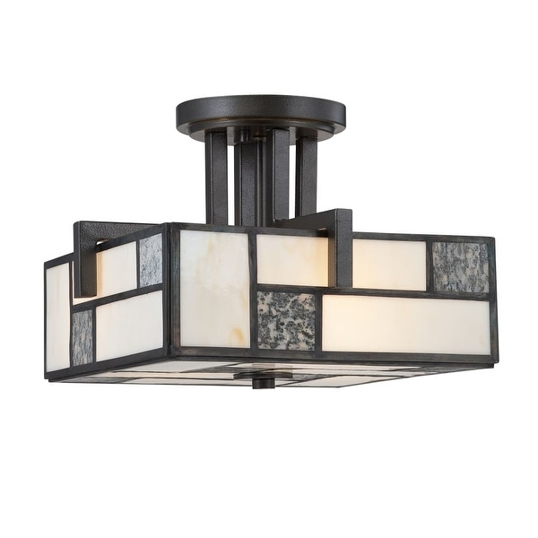 Designers Fountain 84111 3-Light Semi-Flush Mount Ceiling Fixture from the Bradley Collection - Charcoal - n/a