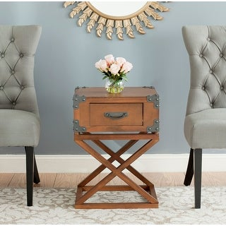 """Link to SAFAVIEH Dunstan Autumn Leaf Accent Table - 18.9"""" x 15"""" x 25.6"""" Similar Items in Living Room Furniture"""