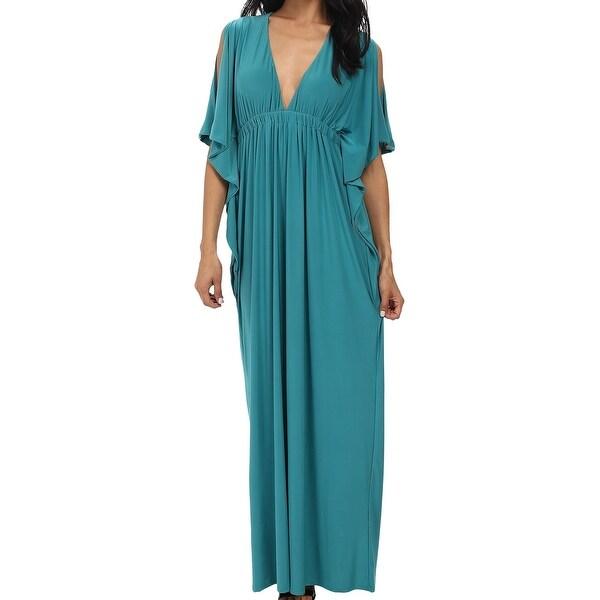 Tbags Los Angeles New Green Women X27 S Xs Open Sleeve Maxi Dress