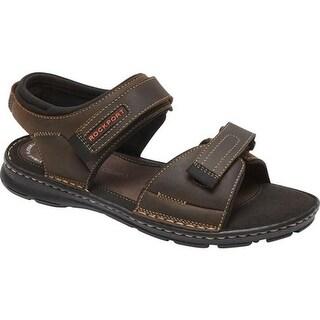 Rockport Men's Darwyn Quarter Strap Sandal Brown II Leather