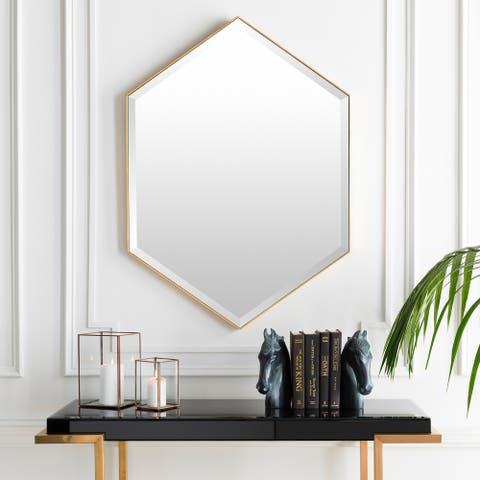 "Conner Hand Gilded Modern Wall Mirror - 30"" x 42"""