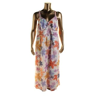 Jessica Simpson Womens Plus Roslyn Sleeveless Maxi Sundress - 3X
