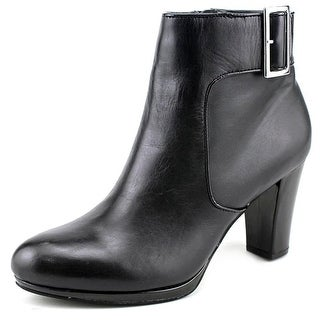 Giani Bernini Pamie Women  Round Toe Leather Black Bootie