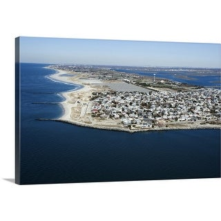"""Aerial view of Long Island, New York"" Canvas Wall Art"