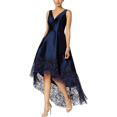 6850a60220a Betsy   Adam Womens Evening Dress Lace Trim High-Low
