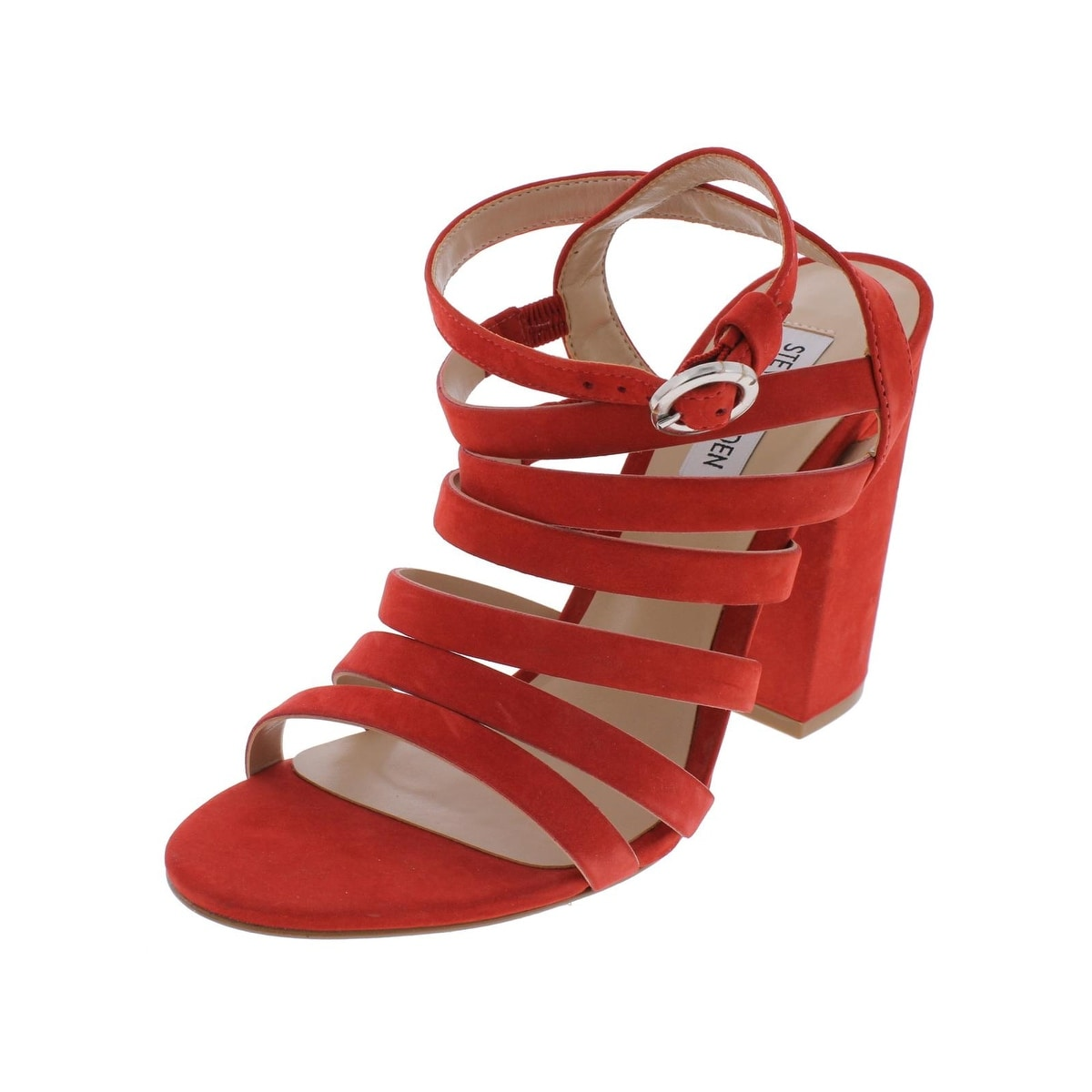 a925db04e17 Steve Madden Womens Saturn Dress Sandals Open Toe Strappy