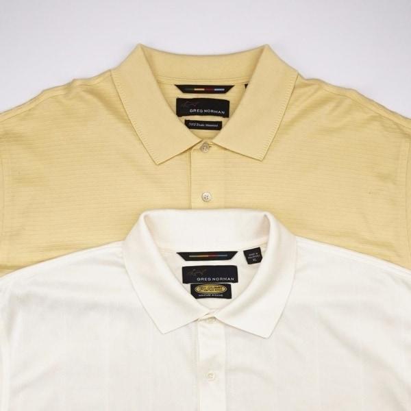 GREG NORMAN LOT of 2 Play Dry Colovista 3 Button Polo Shirt Mens ...