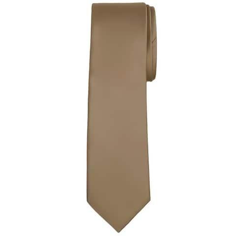 Jacob Alexander Solid Color Men's Regular Tie - One Size
