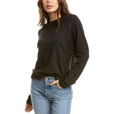 Monrow Mesh Mix Sweatshirt