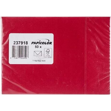 Red - Papicolor A6 Envelopes 50/Pkg