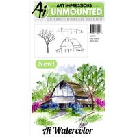 "Old Barn-Art Impressions Cling Rubber Stamp Sets 7""X4"""