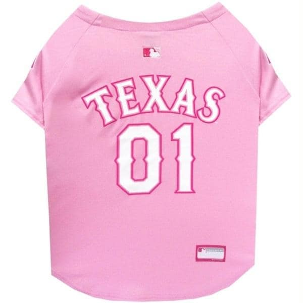 sneakers for cheap 9022b 3e131 Texas Rangers Pink Pet Jersey - X-Small