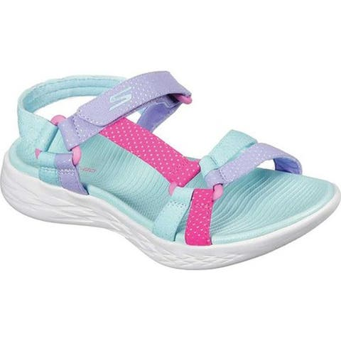 Skechers Girls' On the GO 600 Summer Sense Sport Sandal Aqua