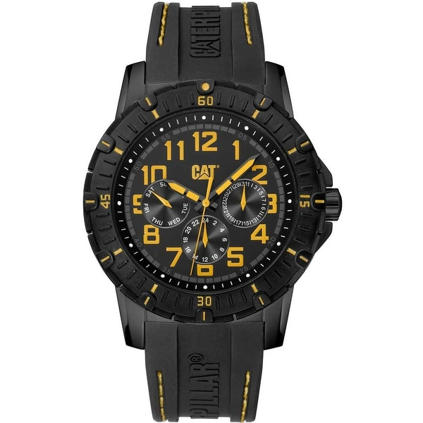 CATERPILLAR PV1 Multifunction Black Rubber Strap Watch