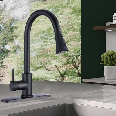Proox Commercial Single Handle Pull Down Sprayer Kitchen Sink Faucet