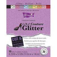 "Core'dinations Cut & Emboss Cardstock Pad 4.25""X5.5"" 30/Pkg-Core Couture Glitter"