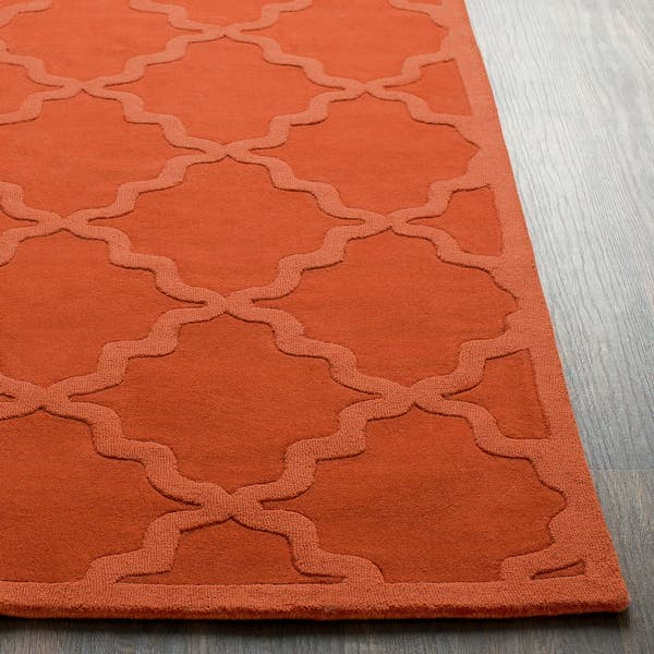 Hand Tufted Amy Tone On Tone Lattice Wool Area Rug 2 X 3 Overstock 9267351