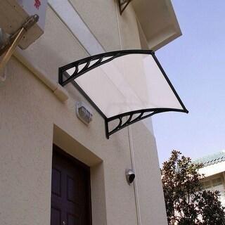 Costway 40''x 40'' Window Awning Door Canopy Outdoor Polycarbonate Front Door
