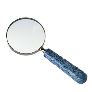 Set of 2 Blue Traditional Magnifying Glass with Leaf Embossed 10