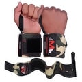Weight Lifting Wrist Wraps Support Gym Training Bandage Straps Camo Green B-3 - Thumbnail 1