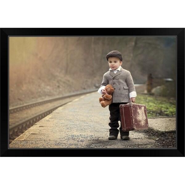 """""""The Little Traveler"""" Black Framed Print"""