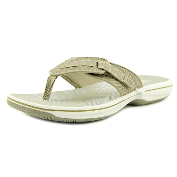 Clarks Narrative Brinkley Quade Women Open Toe Synthetic Nude Thong Sandal