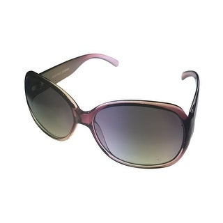 Ellen Tracy Womens Sunglass 519 1 Purple Modified Rectangle, Smoke Gradient Lens - Medium