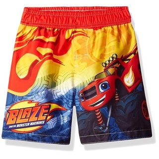Nickelodeon Boys 2T-4T Blaze Swim Trunk - Red