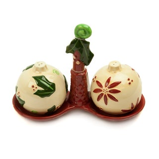 Russ Berrie Christmas Traditions Salt & Pepper Shakers