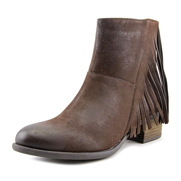 Steven Steve Madden Casidyy Women Round Toe Leather Brown Ankle Boot