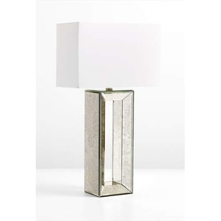 Cyan Design Metro Mirrored Table Lamp Metro 1 Light Accent Table Lamp with White Shade