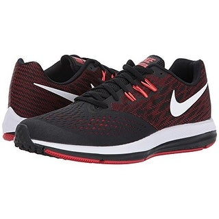 bf45688fcf3 Shop Nike Zoom Winflo 4 Black White University Red Total Crimson Men s  Running Shoes - Free Shipping Today - Overstock - 18280775