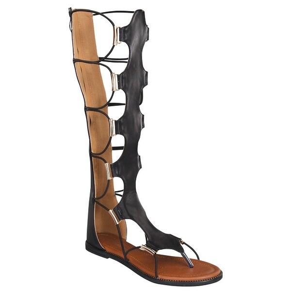 Forever Women's Anya-50 Katia-5 Knee-High Gladiator Thong Sandals