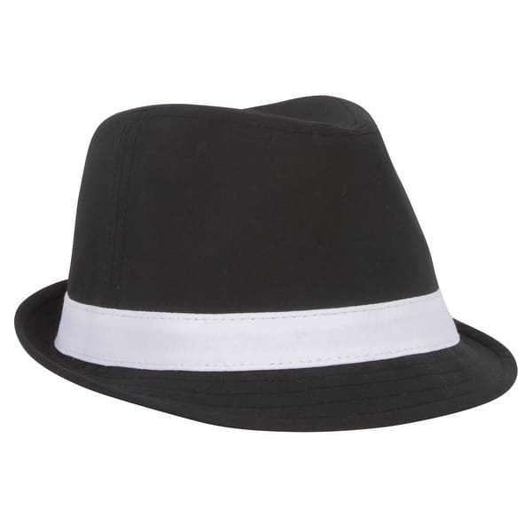 7422bccda Shop Polyester Tall Fedora w/ White Band - Free Shipping On Orders ...