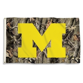 University of Michigan Wolverines Camo Flag