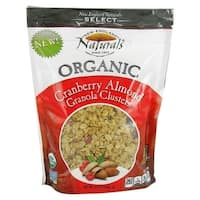 New England Naturals Organic Clusters - Cranberry Almond Granola - Case of 6 - 12 oz.