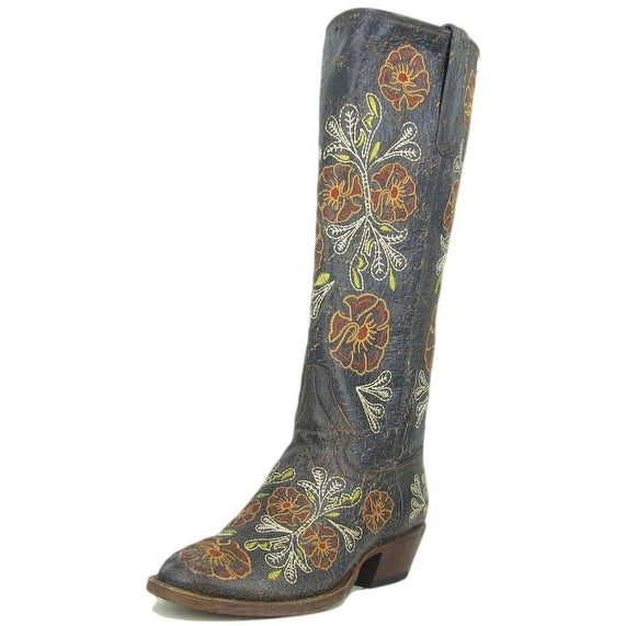 Macie Bean Western Boots Womens Cowboy Tall Floral Rivera Brown