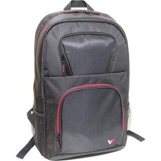 """""""V7 CBV21RT-9N V7 VANTAGE CBV21RT-9N Carrying Case (Backpack) for 16.1"""" Notebook - Black, Red - Water Resistant - Nylon -"""