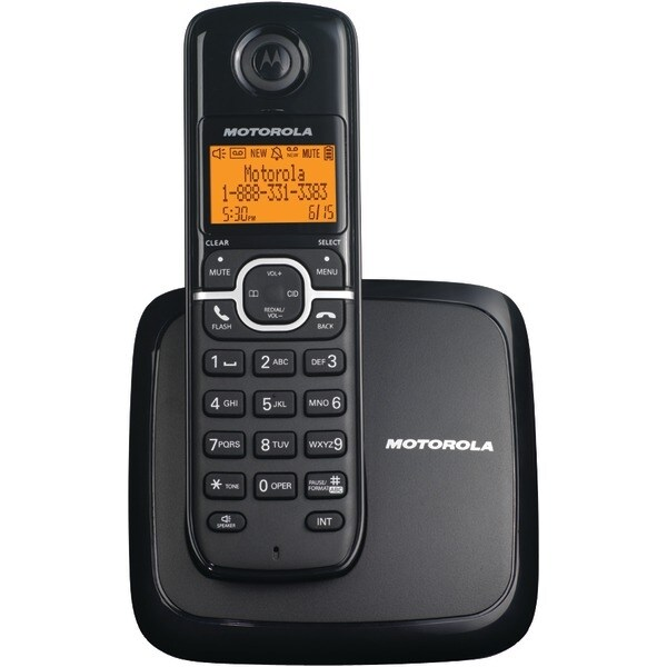 Motorola L601M Dect 6.0 Cordless Phone System With Speakerphone & 3-Line Display (Single-Handset System)