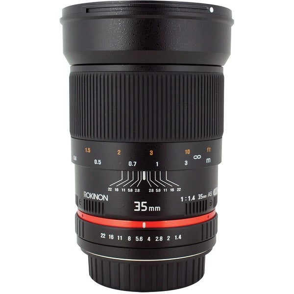 Rokinon 35mm f/1.4 AS UMC Lens for Nikon F (AE Chip) - black
