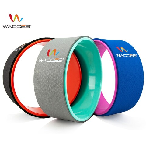 """Wacces Yoga Wheel 13"""" for Stretching, Support for Yoga Poses"""
