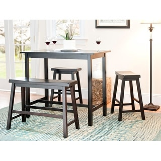 "Safavieh Bistro 4-piece Counter-Height Bench and Stool Pub Set - 24"" x 44"" x 36"" - 24"" x 44"" x 36"""