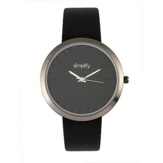 Simplify The 6000 Unisex Quartz Watch, Luminous Hands