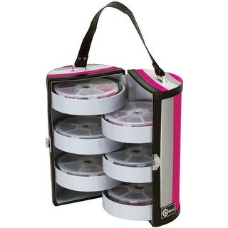 "Creative Options Bead & Embellishment Tower-5.375""X5.25""X9.5"" Black, Magenta, Silver - Black"